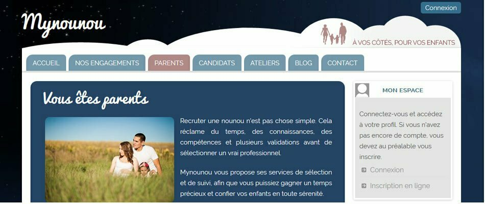 capture du site mynounou