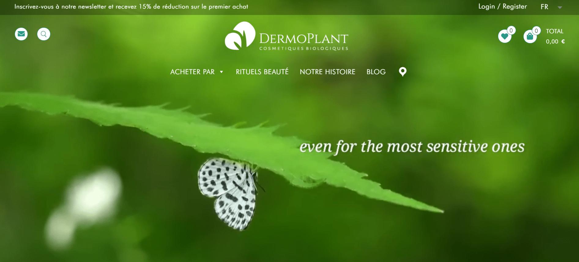 site internet dermoplant